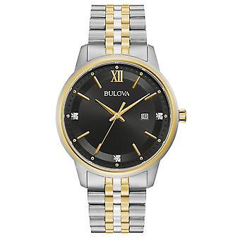 Bulova 98D163 الرجال & s الماس تعيين أسود الطلب ساعة اليد