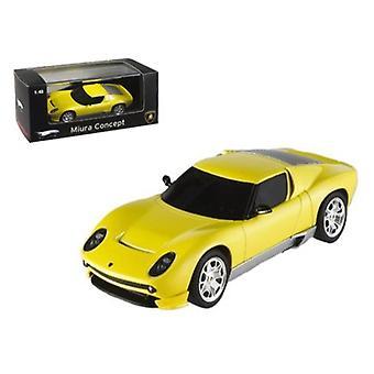 Lamborghini Miura Concept Yellow Elite Edition 1/43 Diecast Model Car By Hotwheels