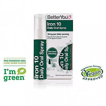 BetterYou Iron 10 Oral Spray 25ml