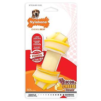 Nylabone Rawhide Alternative Knot Bone (Bacon & Cheese) Dog Chew
