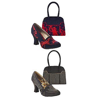 Ruby Shoo Women's Flora Mid Heel Court Shoes & Matching Monza Shoulder Bag