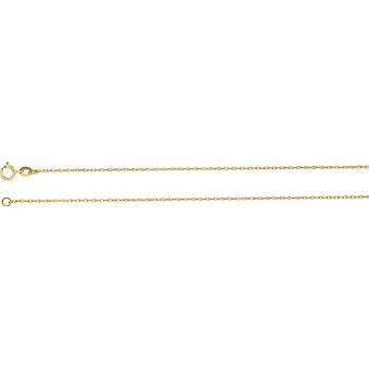 10k Yellow Gold 1mm Necklace Rope Chain With Spring Ring Jewelry Gifts for Women - Length: 16 to 24