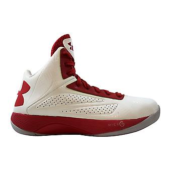 Under Armour Micro G Torch White/Red-Silver 1231588-101 Men's