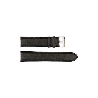 Authentic hugo boss watch strap black crocodile grain 22mm hb841142184
