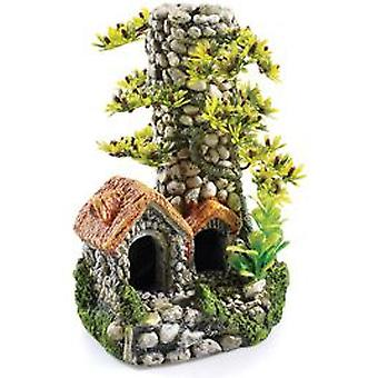 Classic For Pets Cobbled Chimney - 200mm - T&OL (Poissons , Décoration , Ornements)