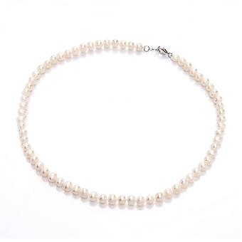 David Deyong Freshwater Pearl & Sterling Silver Classic 6mm Strand Necklace