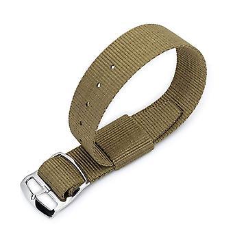 """כתפיות n. a. t לצפות רצועה 21 מ""""מ מילתאת חיל האויר n7 נאט ו שעון רצועת, ירוק צבאי, סולם מלוטש נעל המחוון אבזם"""
