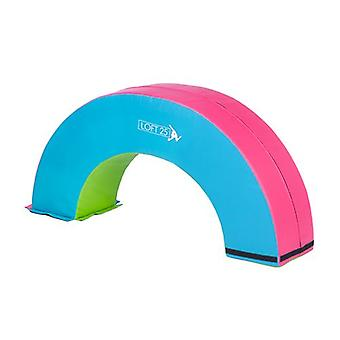 Loft 25 Gymnastics Training 'Rainbow' Turquoise, Pink and Lime Half Donut Obstacle Mat