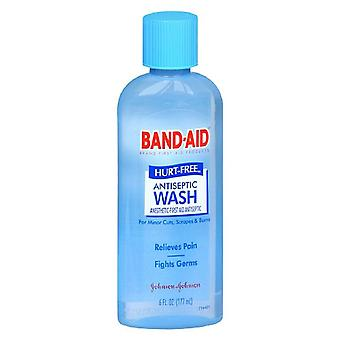 Band-aid first aid, hurt free antiseptic wash, 6 oz