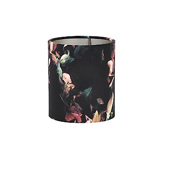 Light & Living Cylinder Shade 17x17x23cm VELOURS Hydrangea Black