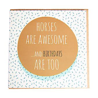 Gubblecote Horses Are Awesome Birthday Card