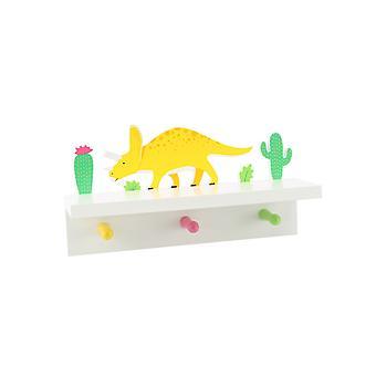 Dinosauria Dinosaur Shelf with Pegs