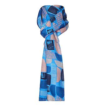 TIGI Blue Abstract Print Scarf