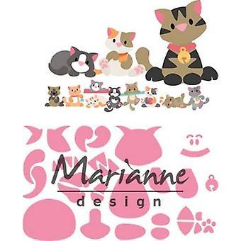 Marianne Design Collectables Cutting Dies - Eline's Kitten COL1454