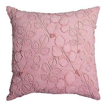 Floreat broderet pude 50x50cm Rose Pink