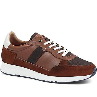 Jones Bootmaker Mens Theo Leather Lace-Up Trainer