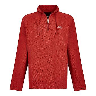 Weird Fish Mens Cruiser 1/4 Zip Macaroni