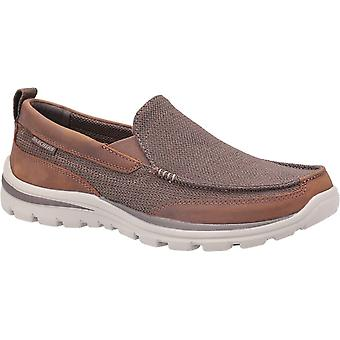 Skechers unisex superior milford shoes brown 23890