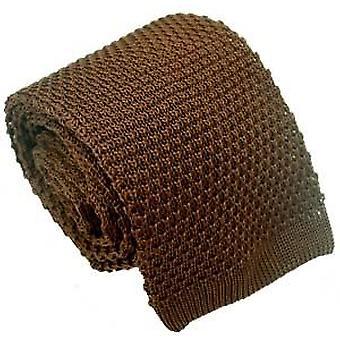 Michelsons Lontoo silkkiä neulottu solmio - ruskea