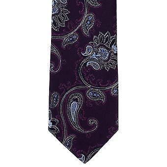 מייקלסון של לונדון מסובכים פייזלי פוליאסטר עניבה-סגול