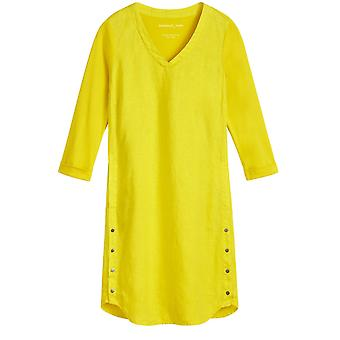 Sandwich Clothing Yellow Linen Shift Dress