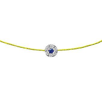 Choker Duchess Sapphire 18K Or et Diamants, sur Thread - Or blanc, NeonYellow
