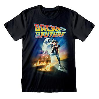 Officiële Mens Back To The Future T-Shirt - Film Poster - Marty McFly