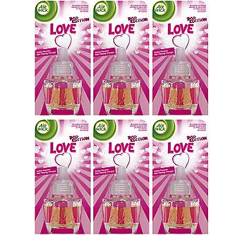 6 X Air Wick Electrical Plug In Air Freshener Oil Recharges - Love