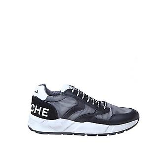 Voile Blanche 1a06001201457702 Men's Black Leather Sneakers