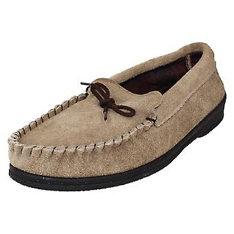 Mens Spot On Moccasin Slippers