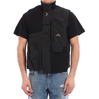 En kall vägg Acwmo006whlblak Men's Black Nylon Vest