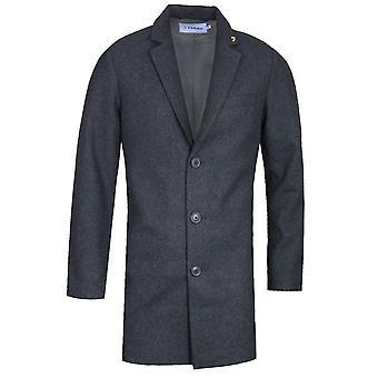 Farah Ruxton Dark Grey Marl Overcoat