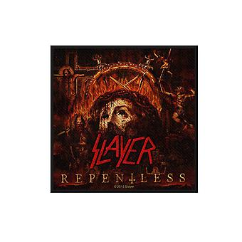 Slayer Patch Repentless Band logotyp officiella nya svarta vävd bomull (10 x 10 cm)