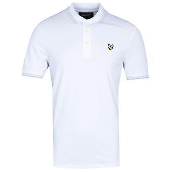 Lyle & Scott Slim Fit Tipped Biała koszulka polo