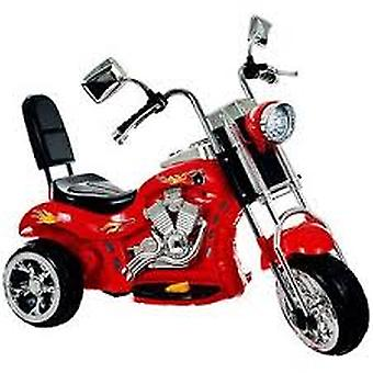 Rockin-apos; Rollers Red Rocking 3-Wheel Chopper Motorcycle 6-Volt Battery-Powered Ride-On