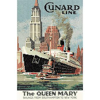Heritage Crafts Cross Stitch Kit - Queen Mary (Evenweave)