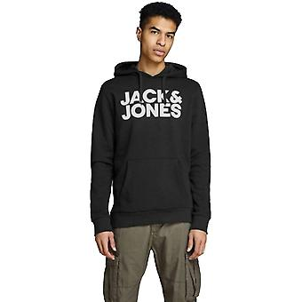 Jack & Jones Mens JJecorp Printed Logo Sweat Hoodie