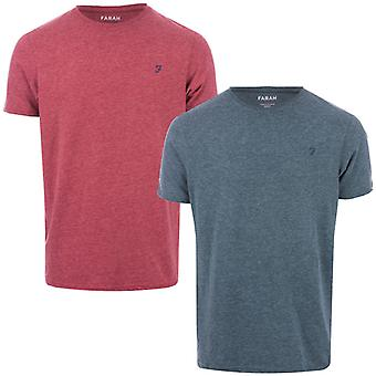 Men's Farah Oakmont 2 Pack Lounge T-Shirts en Vert