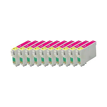 החלפת מיכל הדיו של היחידה בצבעי מגנטה בגודל 10x של Epson מג D68, D68 מהדורת צילום, D88, D88 מהדורת צילום, D88 פלוס, DX3800, DX3850, DX3850 פלוס, DX4200, DX4250, DX4800, DX48
