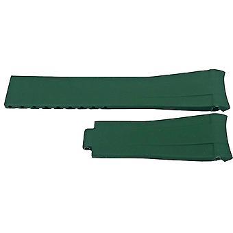 Rubberen horlogeband voor rolex gmt oyster & omega seamaster green 20mm