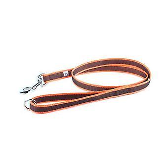 يوليوس-K9 اللون &; رمادي سوبر قبضة المقود البرتقالي الرمادي العرض (0.7 & نقلا عن / 20mm) الطول (4ft / 1.2 م) مع مقبض و O حلقة، ماكس ل110 £ / 50 كجم الكلب