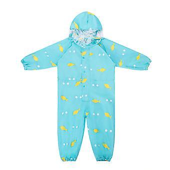 معطف الأطفال - جامبسوت للماء مقنعين -الكرتون ملابس المطر ديناصور و