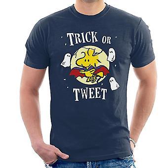 Jordnötter Halloween trick eller Tweet Woodstock män ' s T-shirt
