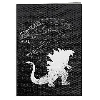 Biglietto d'auguri Inking Godzilla