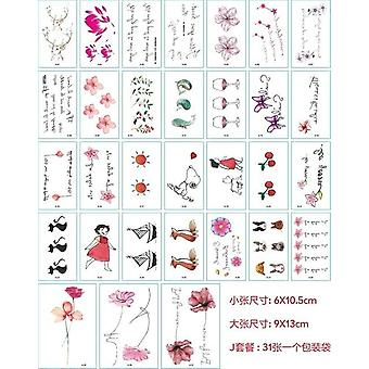 Temporary Tattoo Stickers - Waterproof Tattoos For Women Sexy Arm Clavicle Body for Girl Men