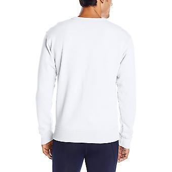 Champion Men's Powerblend Pullover Sweatshirt, Blanc, Moyen, Blanc, Taille Moyenne