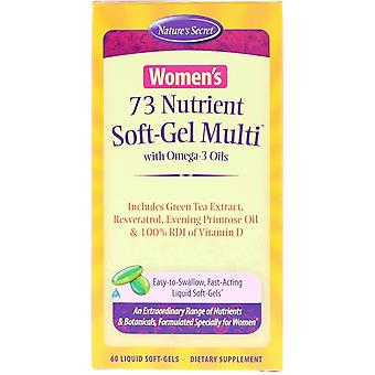 Nature's Secret, Women's 73 Nutrient Soft-Gel Multi with Omega-3 Oils, 60 Liquid