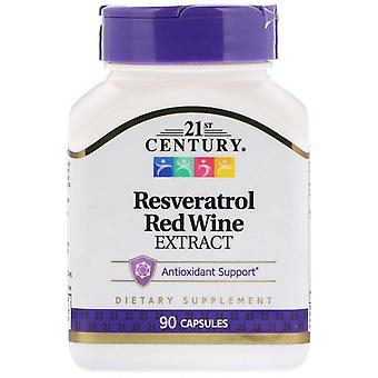 21st Century, Extrait de vin rouge de Resvératrol, 90 capsules