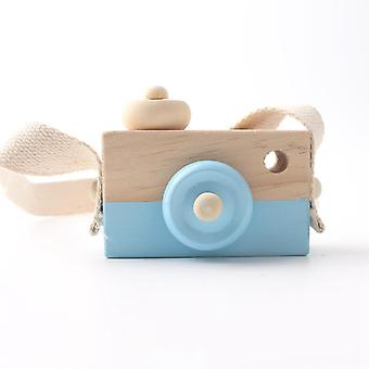 1pc Wooden Baby Toys Fashion Camera Wood Pendants Montessori Toys For Kids