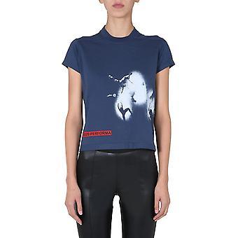 Rick Owens Drkshdw Ds20f1208rnep356110 Women's Blue Cotton T-shirt
